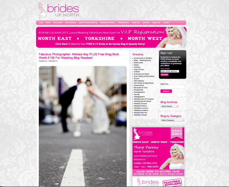 Brides up North Blog feature