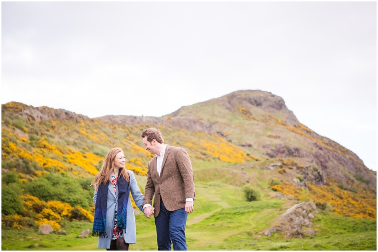Arthurs seat Engagement shoot photo