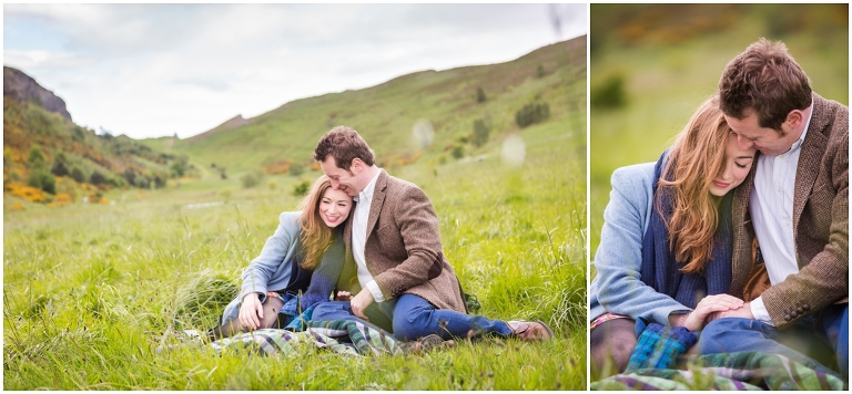 Edinburgh Engagement shoot photo
