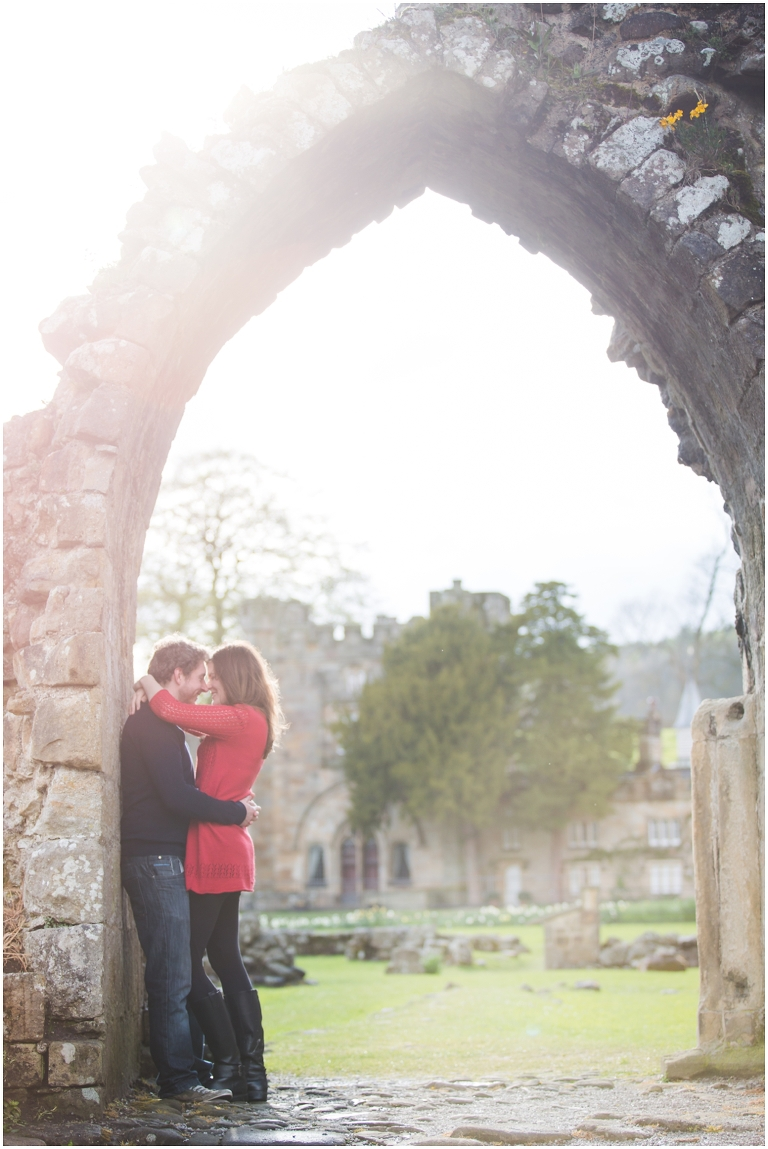 Bolton Abbey Engagement shoot photo