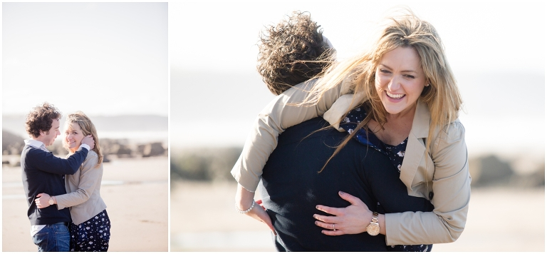 A fun engagement shoot at Whitby Beach